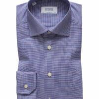 Men`s Windowpane Contemporary Fit Dress Shirt