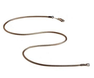 Necklace in 925 silver fabric