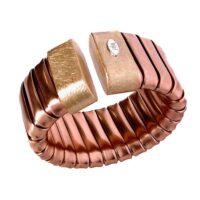Bracelet gas tube in bronze
