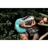 Mezza Luna Dollaro Leather Handbag (B241)