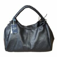 Large Dollaro Leather laced-Stitched Tote Bag (B64)