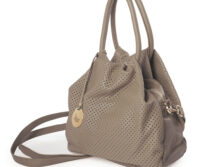Perforated Siena Leather Small Tote (B74)