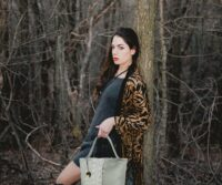 Siena & Python print Leather Handbag (B77XX)