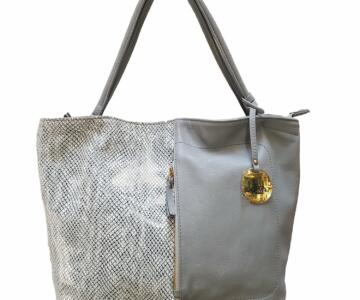 Siena & Python print Leather Handbag (B77XX)