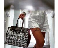 Rafia & Dollaro Leather Checkered Tote- Capsule Collection (WA01)