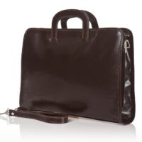 Angelo Business Folder in Genuine Calf Leather - Brown
