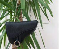 Marsella Genuine Leather Saddlebag / Shoulder Strap - BLACK