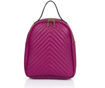 Laguna Quilted Real Leather Backpack - ROSE