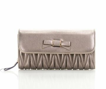 Marigold Clutch Bag in Genuine Cowhide Leather - ROSE GOLD
