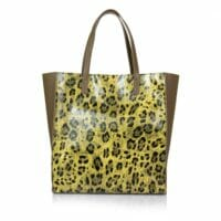 Elvera  Real Leather Spotted Print Shopper - TAUPE