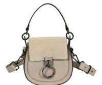 Ginevra Genuine Ruga and Suede Leather Shoulder Bag - PALE PINK