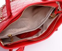 Isabella Quilted Genuine Leather Bag - RED