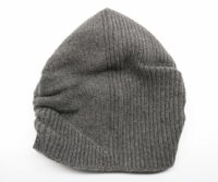 PORTOLANO Ladies Ribbed Slouchy Hat - Dark Grey