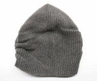 PORTOLANO Ladies Ribbed Slouchy Hat - Dark Grey