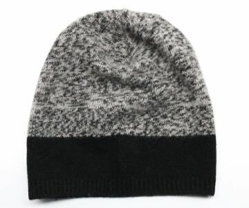 PORTOLANO Ladies Melange Slouchy Hat - BLACK