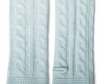 PORTOLANO Ladies Cable Arm Warmer - LIGHT BLUE
