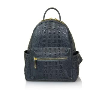 JULIENT - Claretta Genuine Leather Croc Print Backpack - Main
