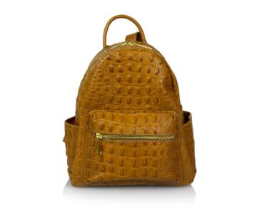 JULIENT Claretta Genuine Leather Croc Print Backpack - Leather