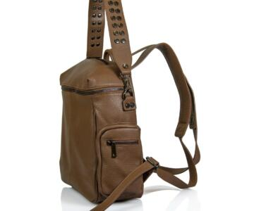 JULIENT Celinka Dollar Leather Backpack - Brown