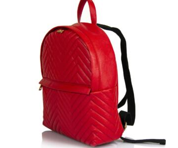 JULIENT Beronia Vegan Leather Backpack - Red