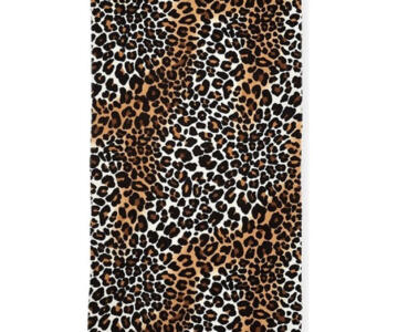 100 19 015 Natural Leopard Woven Front