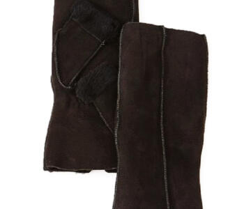 S405 Black SHEARLING FRONT